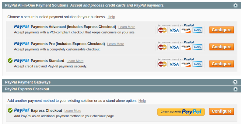 Magento 1.9 Enable Both PayPal Standard and PayPal Express Checkout