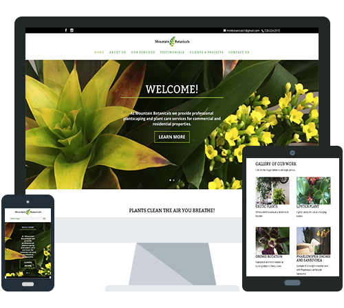 New Website for Plant Care Company