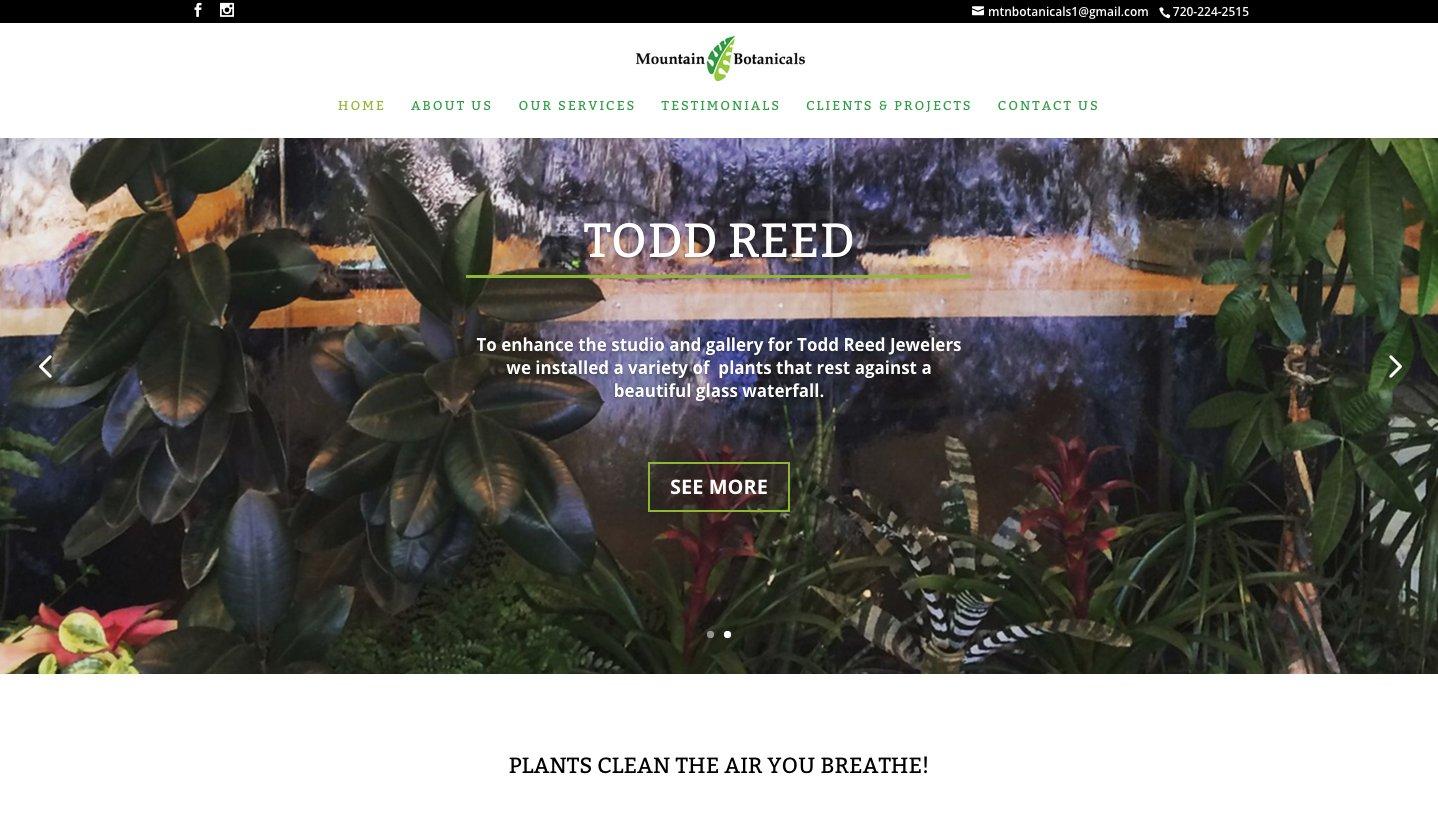Mountain Botanicals Website