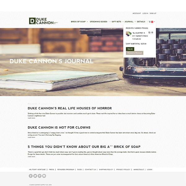 Duke Cannon Magento WordPress Integration