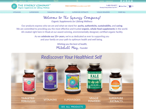 Redesign for eCommerce Supplement Company